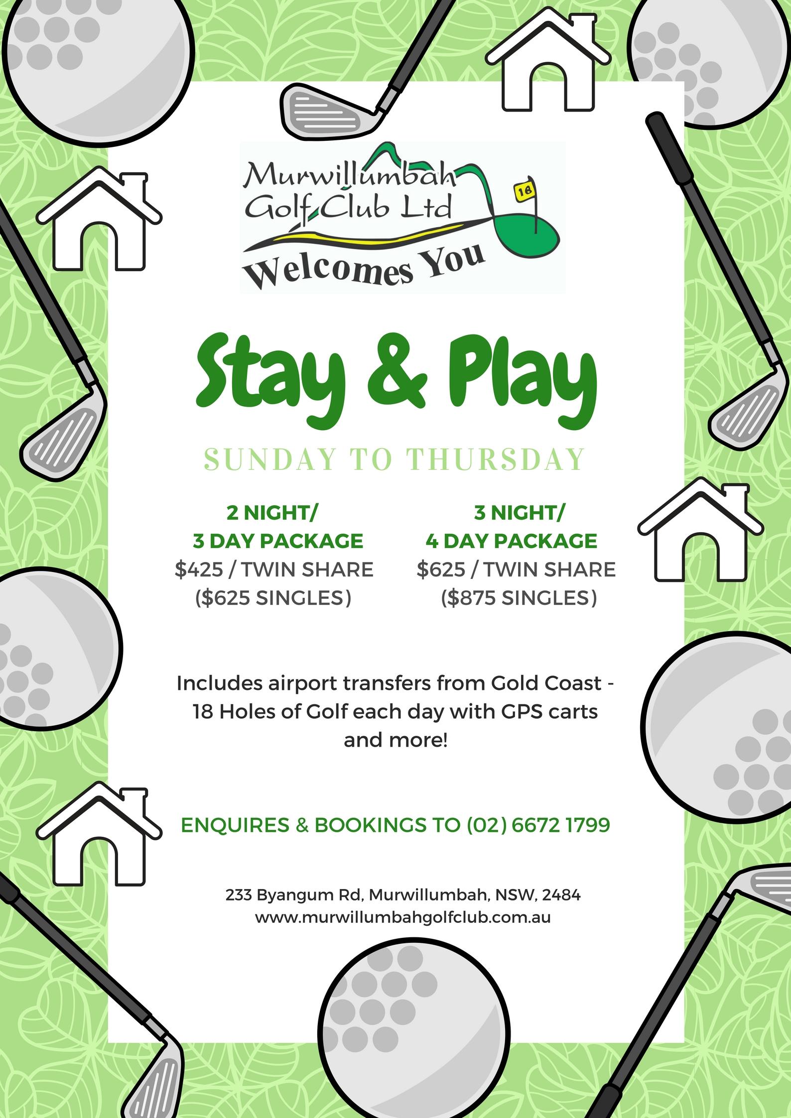 Murwillumbah Golf Club - Play Golf